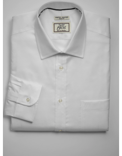 JoS. A. Bank Men's 1905 Collection Tailored Fit Spread Collar Dress Shirt, White, 15 1/2x35