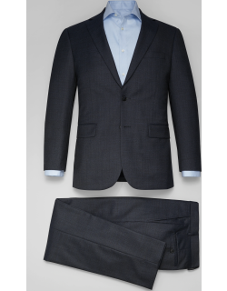 JoS. A. Bank Men's Traveler Collection Tailored Fit Marled Pattern Suit, Navy, 41 Long