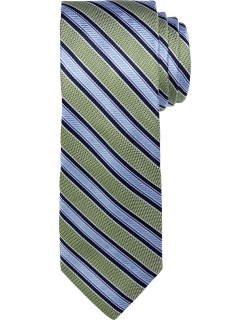 JoS. A. Bank Men's 1905 Collection Stripe Tie, Green, One