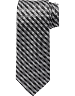 JoS. A. Bank Men's Reserve Collection Herringbone Stripe Tie, Charcoal, One