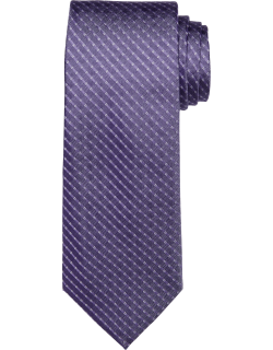 JoS. A. Bank Men's Reserve Collection Woven Stripe Tie, Lavender, One
