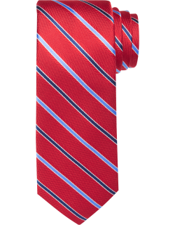 JoS. A. Bank Men's Traveler Collection Two Tone Thin Stripe Tie, Red, One