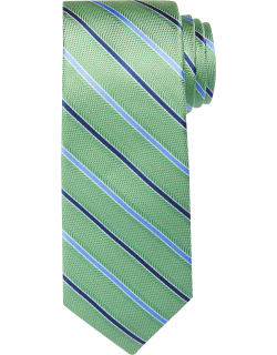 JoS. A. Bank Men's Traveler Collection Two Tone Thin Stripe Tie, Green, One
