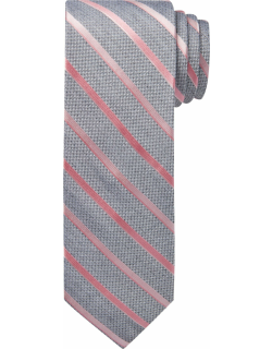 JoS. A. Bank Men's 1905 Collection Stripe Tie, Pink, One