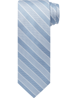 JoS. A. Bank Men's Reserve Collection Textured Stripe Tie, Blue, One