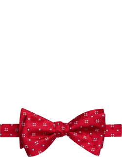 JoS. A. Bank Men's Geometric Self-Tie Bow Tie, Red, One