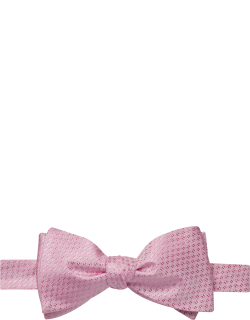 JoS. A. Bank Men's Woven Pattern Self-Tie Bow Tie, Pink, One