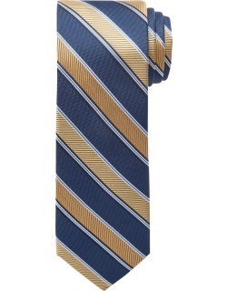 JoS. A. Bank Men's 1905 Collection Stripe Tie, Yellow, One