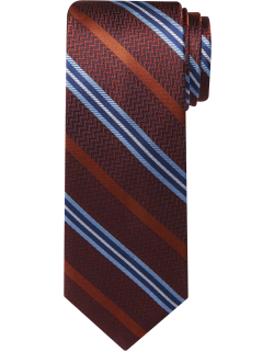 JoS. A. Bank Men's Reserve Collection Stripe Tie, Rust, One