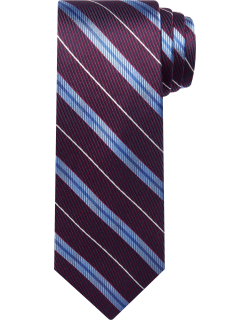 JoS. A. Bank Men's Reserve Collection Stripe Tie, Burgundy, One