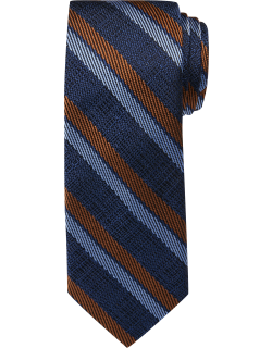 JoS. A. Bank Men's Reserve Collection Woven Stripe Tie, Navy, One