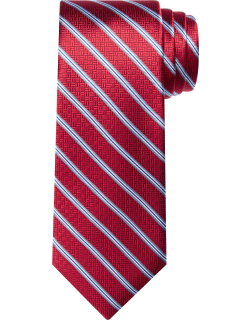 JoS. A. Bank Men's Reserve Collection Stripe Tie - Long, Red, LONG