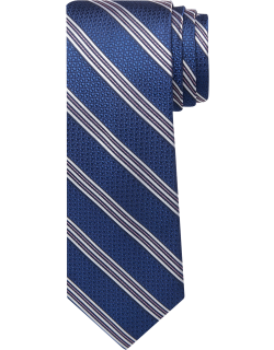 JoS. A. Bank Men's Reserve Collection Textured Stripe Tie - Long, Navy, LONG