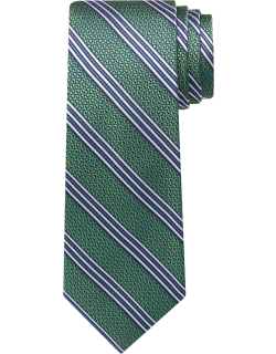 JoS. A. Bank Men's Reserve Collection Textured Stripe Tie - Long, Green, LONG