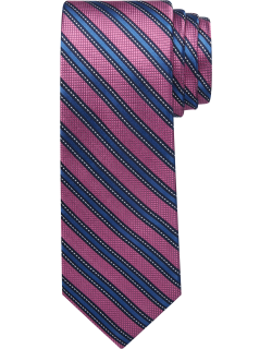 JoS. A. Bank Men's Reserve Collection Stripe Tie, Pink, One