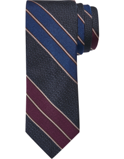 JoS. A. Bank Men's Reserve Collection Wide Stripe Tie, Burgundy, One
