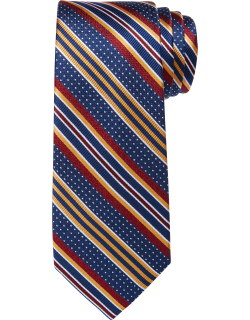 JoS. A. Bank Men's Reserve Collection Stripe Tie, Navy, One