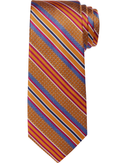 JoS. A. Bank Men's Reserve Collection Stripe Tie, Gold, One