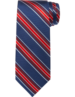 JoS. A. Bank Men's Traveler Collection Stripe Tie, Red, One