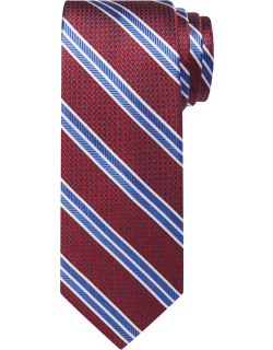 JoS. A. Bank Men's Reserve Collection Woven Stripe Tie, Rust, One