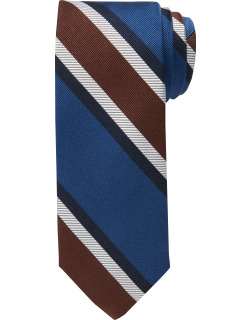 JoS. A. Bank Men's Reserve Collection Stripe Tie, Brown, One