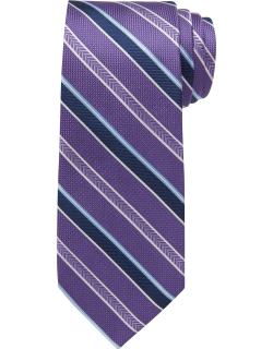 JoS. A. Bank Men's Reserve Collection Textured Stripe Tie, Purple, One
