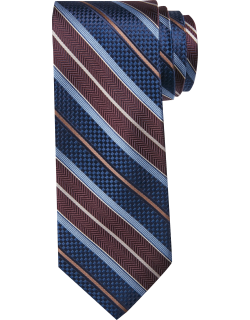 JoS. A. Bank Men's Reserve Collection Stripe Tie, Grey, One