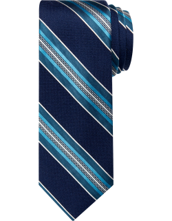 JoS. A. Bank Men's Reserve Collection Stripe Tie, Teal, One