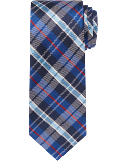 JoS. A. Bank Men's Traveler Collection Plaid Tie, Navy, One