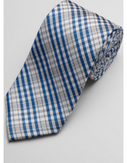 JoS. A. Bank Men's 1905 Collection Plaid Tie, Navy, One