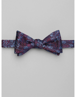 JoS. A. Bank Men's 1905 Collection Floral Pre-Tied Bow Tie, Berry, One
