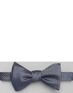 JoS. A. Bank Men's Square Grid Self-Tie Bow Tie, Charcoal, One