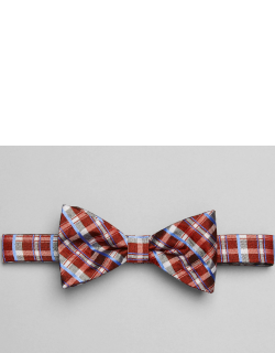 JoS. A. Bank Men's 1905 Collection Plaid Pre-Tied Bow Tie, Red, One