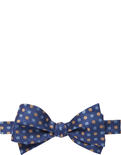 JoS. A. Bank Men's Mini Floral Self-Tie Bow Tie, Yellow, One