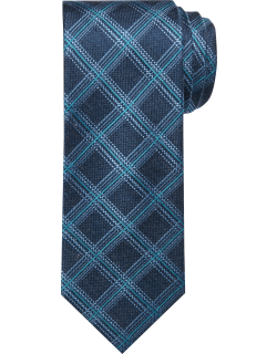 JoS. A. Bank Men's Reserve Collection Windowpane Plaid Tie, Navy, One