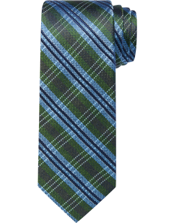 JoS. A. Bank Men's Reserve Collection Plaid Tie, Green, One
