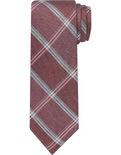 JoS. A. Bank Men's 1905 Collection Plaid Tie, Red, One