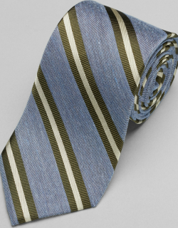 JoS. A. Bank Men's Reserve Collection Ribbed Stripe Tie - Long, Blue, LONG