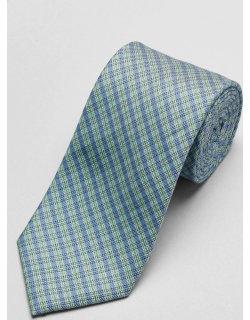JoS. A. Bank Men's 1905 Collection Mini Plaid Tie, Green, One