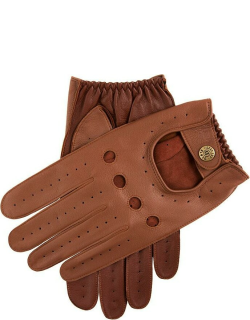Dents Men's Two Colour Leather Driving Gloves In Cognac/eng Tan