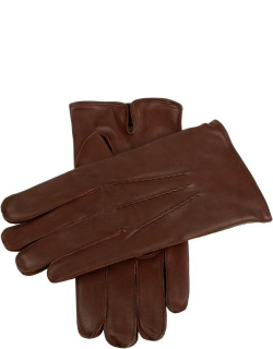 Dents Men's Cashmere Lined Leather Gloves In English Tan