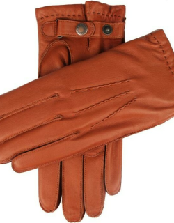 Dents Men's Lambswool Lined Leather Gloves In Highway Tan