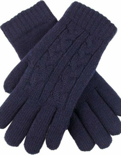 Dents Women's Cable Knit Gloves In Navy