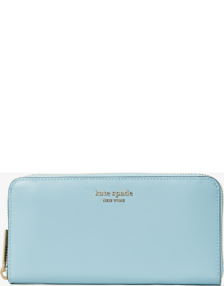 Spencer Zip-Around Continental Wallet - Teacup Blue - One