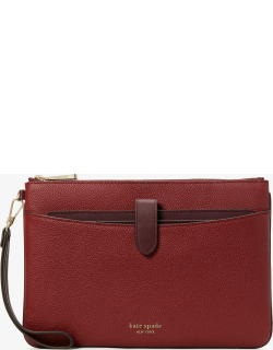 Zip Code Colorblocked Pouch Wristlet - Red Currant Multi - One