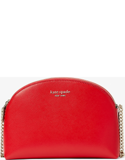 Spencer Double-Zip Dome Crossbody - Lingonberry - One