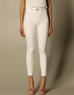 Elisabetta Franchi slim trousers with metal clamp