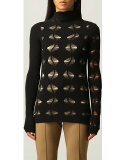 Sportmax jersey with cut out leaves