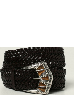 Etro belt in woven leather