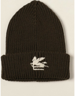 Etro bobble hat in ribbed wool